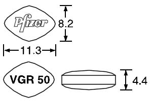 バイアグラ錠50mgの寸法