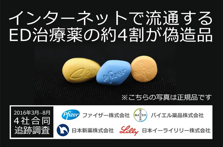 インターネットで流通するED治療薬の約4割が偽造品