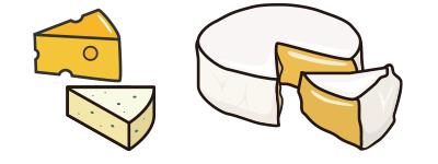 カマンベールやパルメザンチーズなどのナチュラルチーズ