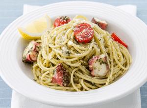 蛸と大葉の和風ジェノベーゼスパゲッティ