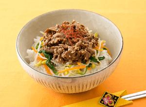 牛肉のピリ辛韓国風どんぶり