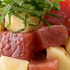 鮪と長芋の柚子胡椒マリネ