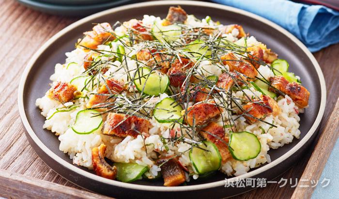 薬味たっぷりうなぎの混ぜ寿司