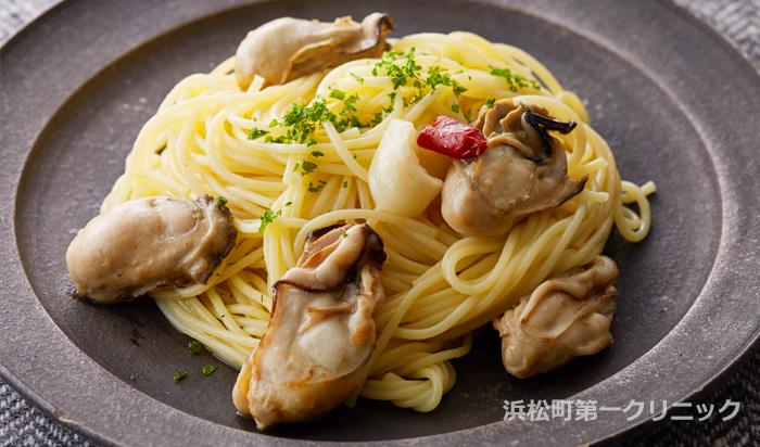 牡蠣のレモンペペロンチーノ