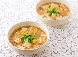 蟹玉豆腐のとろみスープ